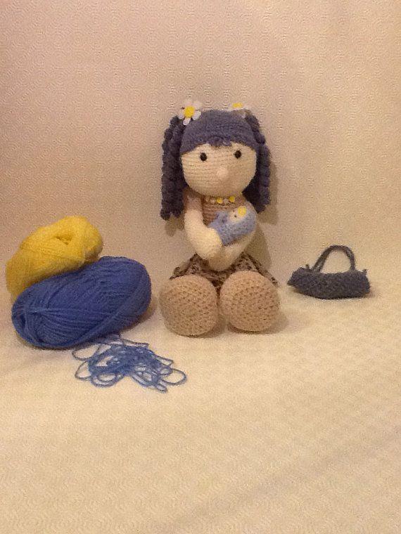 Amigurumi doll with newborn baby by EvalestAmigurumi on Etsy