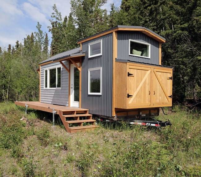 alaskan mom builds lovely tiny house and is offering the plans for free video - Small House On Wheels