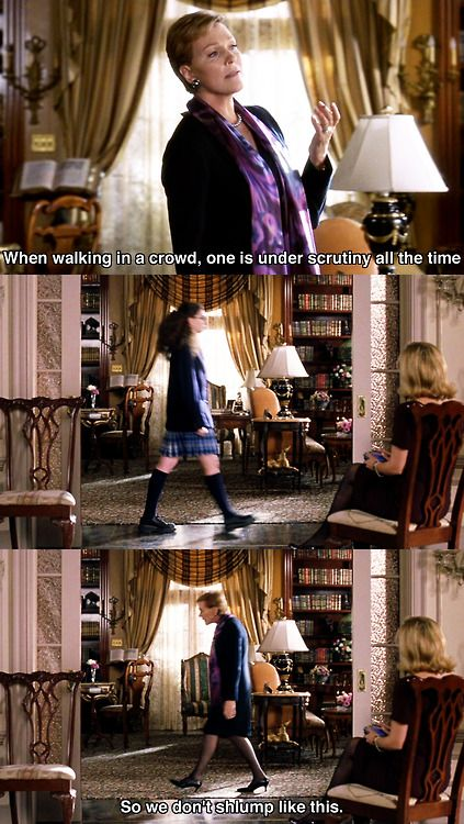"""The Princess Diaries: """"So we don't slump like this.."""" Love this part! lol!"""