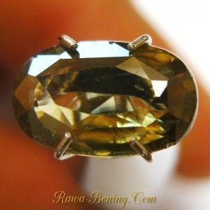 Batu Permata Zircon Hijau Alami 2.08 carat ~ Kualitas Pilihan