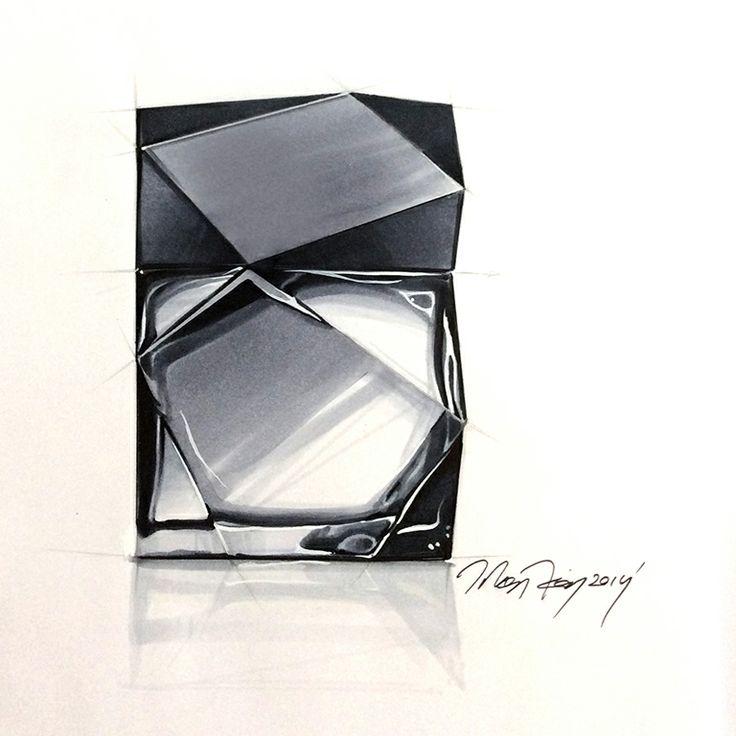 sketch by Orhan Okay ® 2014. #copicmarker #copic #rendering #designsketch #marker #design #perfume #bottle