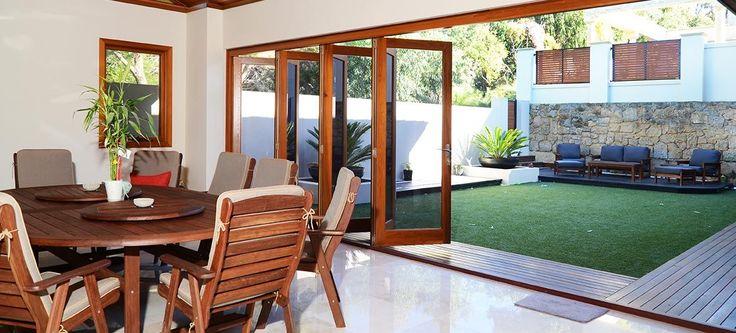 Cedar bifold doors