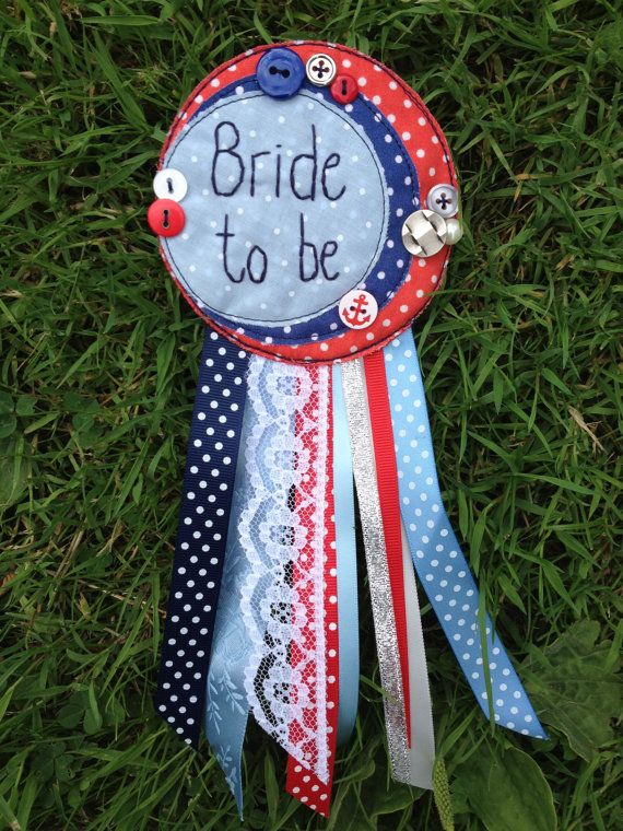 Bride to be badge rosette hen party