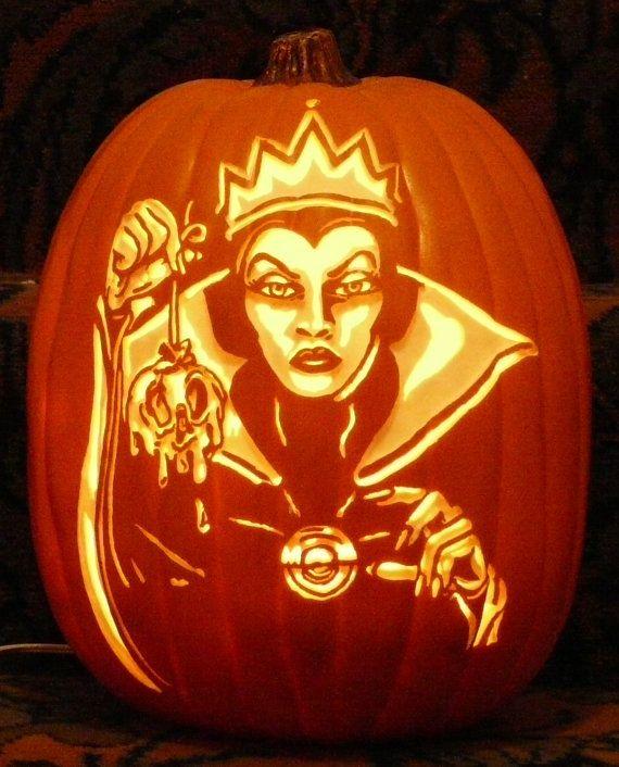 Snow White Evil Stepmother hand carved foam pumpkin