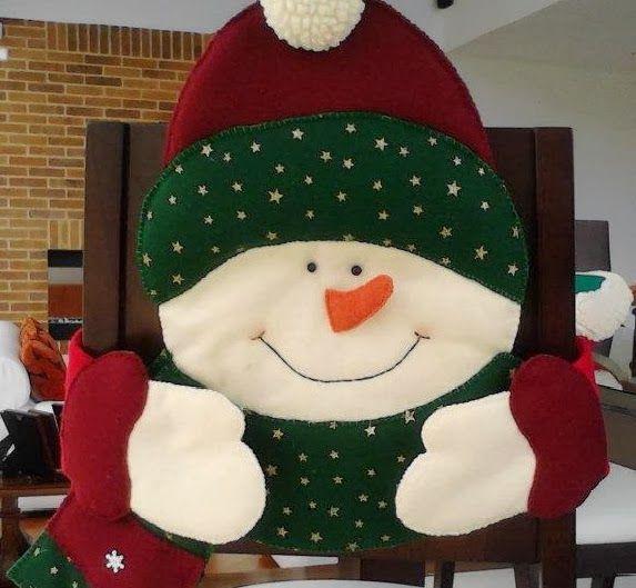 forros navideños para sillas de comedor - Buscar con Google