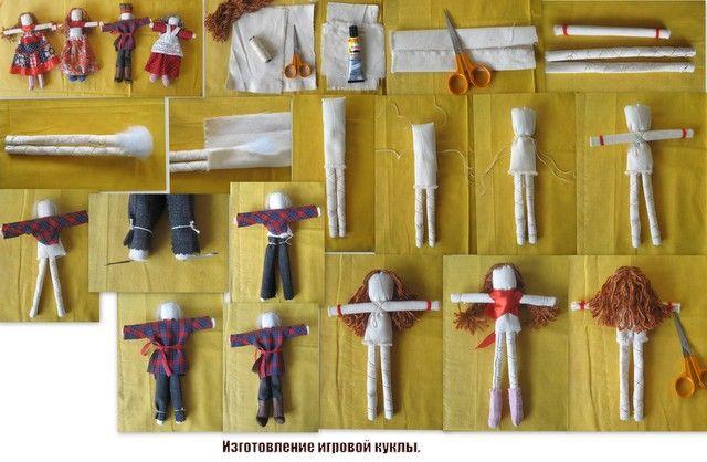 Это вятская игровая кукла- мальчик. Делала я ее давно на МК Вилены.Покажу коллажик, на котором видно, как делать эту игрушку.    А это с...