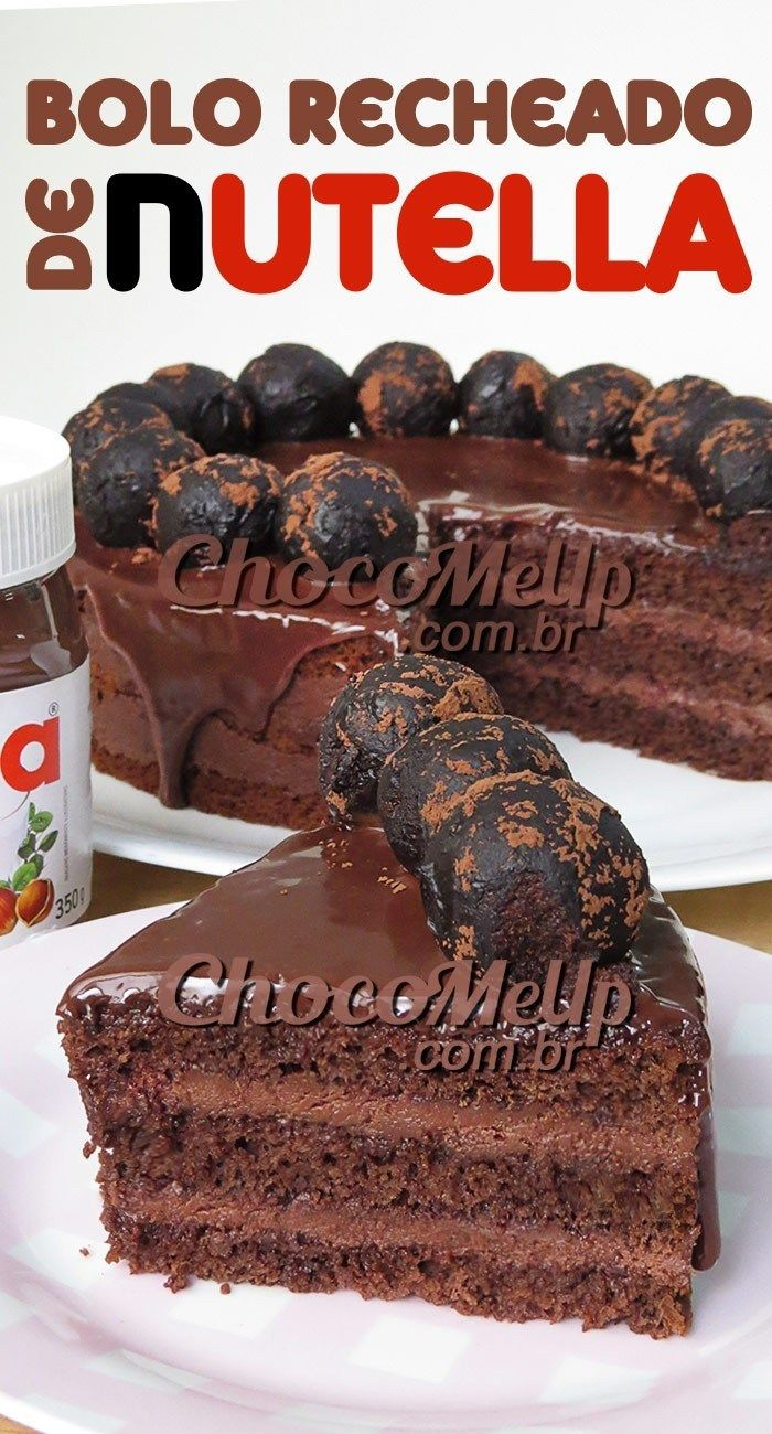 Receita de Bolo de Chocolate com Recheio de Nutella  Esse