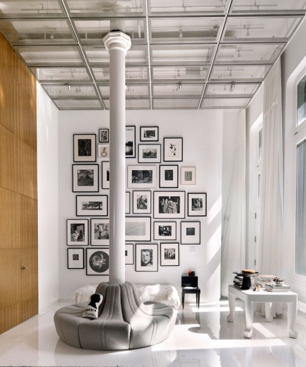 Stylish Laconic And Functional New York Loft Style: 22 Best Images About HOME Picture Frame Wall Composition