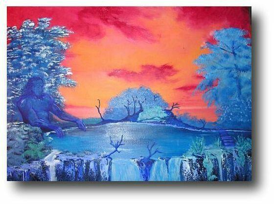 Warm-koud kleurcontrast. Warme kleuren worden tegenover koude kleuren gezet