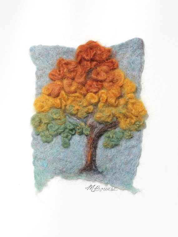 Fine Art in Fiber 'Texas Ash   Early Autumn'  by MichellesFiberArt, $78.00