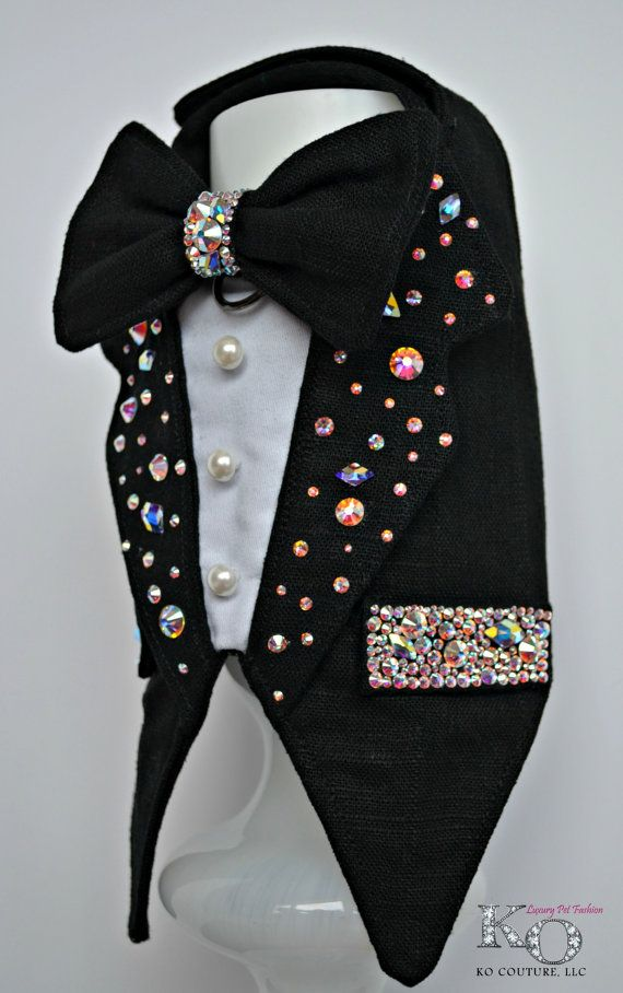 Dog Tuxedo Swarovski Crystal Bling Wedding Boy Dog by KOCouture