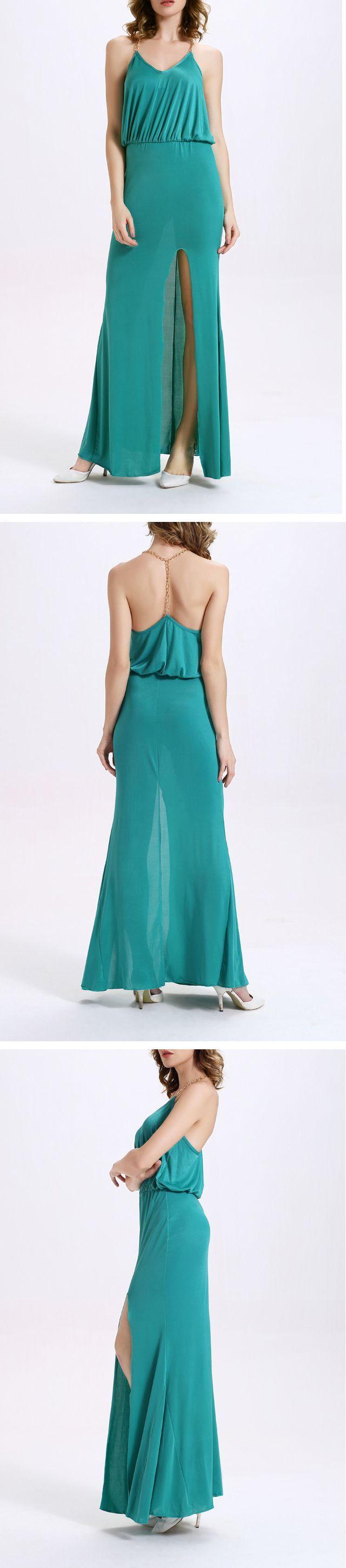 Green Knitting Trumpet Dress
