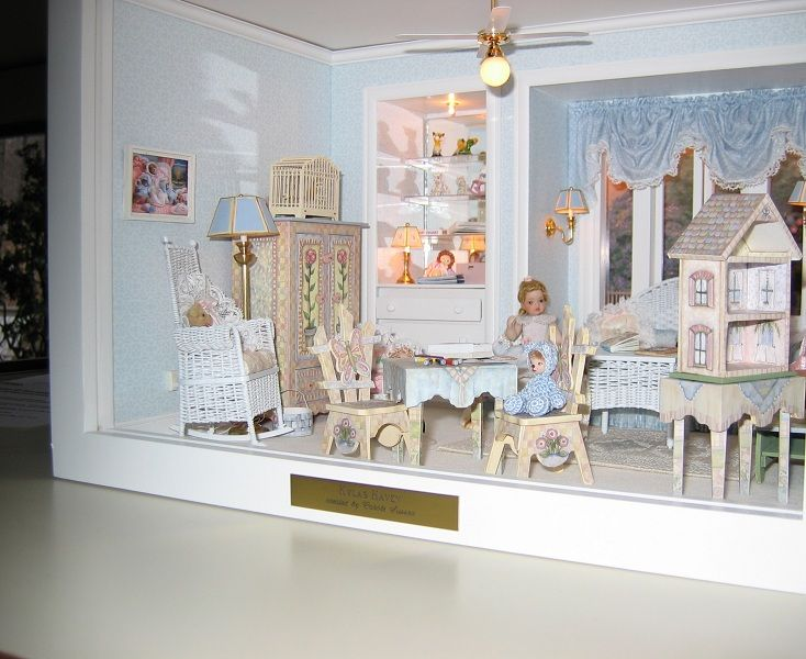 112 scale miniature roombox based on the childrens room