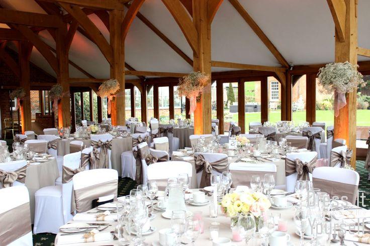 Brocket Golf Club - Oak Room - Wedding (16) Ideas for decorating your wedding breakfast in the Oak Room at Brocket Hall