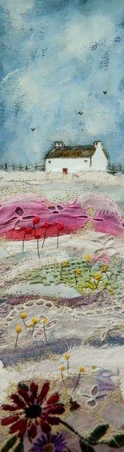 ''A wild flower meadow''  by Louise O'hara of DrawntoStitch https://www.etsy.com/uk/shop/Drawntostitchdotcom