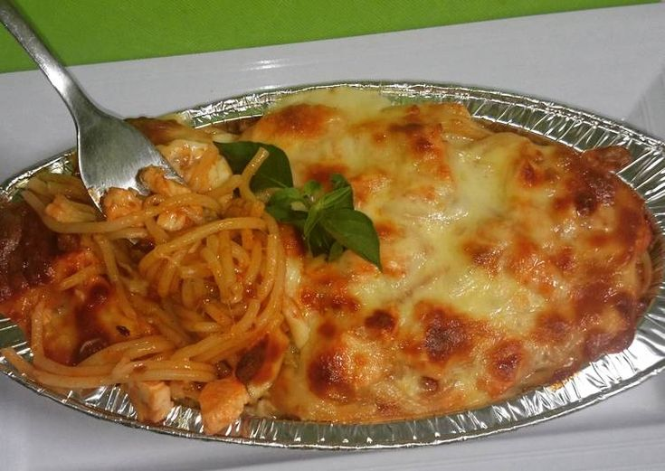 spaghetti panggang mudah