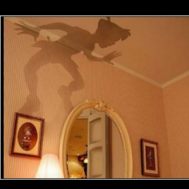 Painted on the wall. Peter Pan is my favourite... #PrimroseReadingCorner