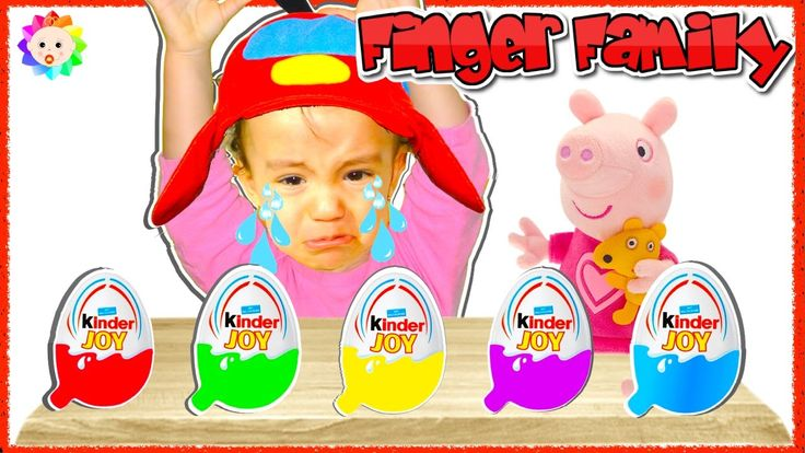 NEW BAD BABY Crying And Learn Colors Colorful Kinder Joy Peppa Pig Finge...
