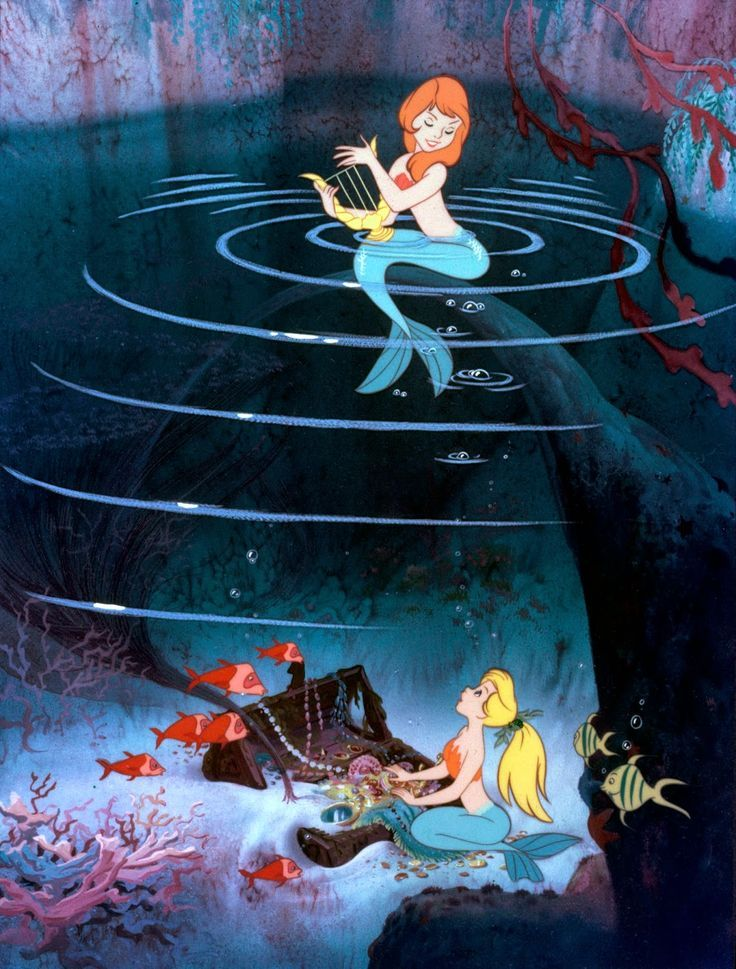 Another preliminary cel set-up, which combines the above- and the under water world in an interesting way.