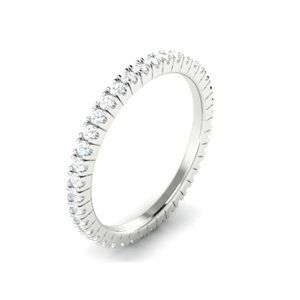 Platinum Full Eternity Ring - Available on our Facebook store