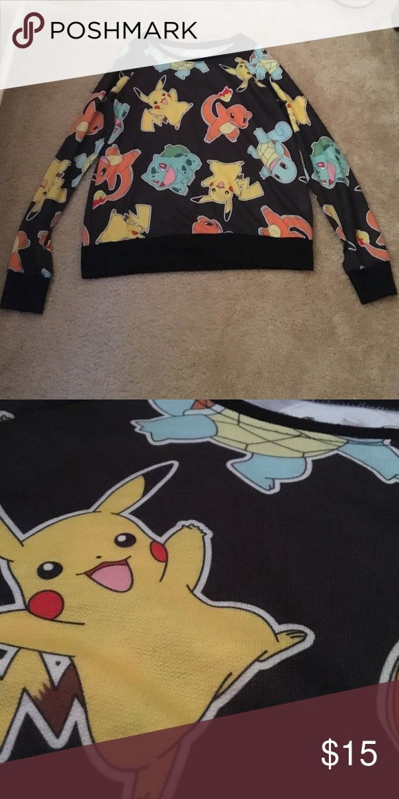 Pokemon Pullover Pokemon characters printed all over, really soft, gently used, not faded, crewneck, long sleeved Hot Topic Tops Sweatshirts & Hoodies