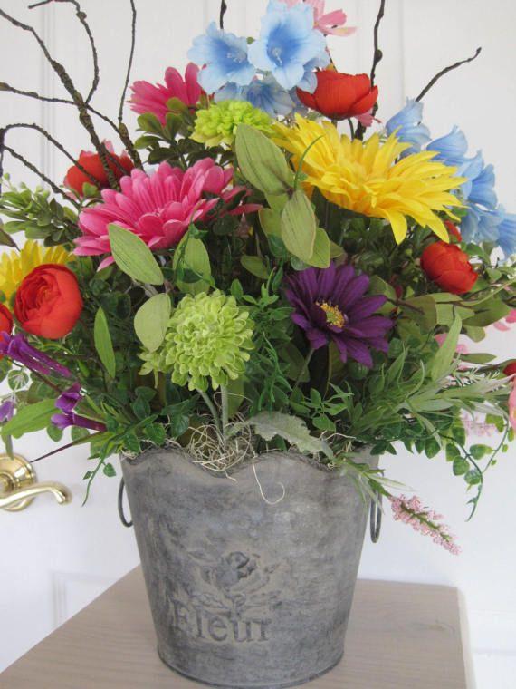Flower Arrangements Silk Flowers For Kitchen Countertops