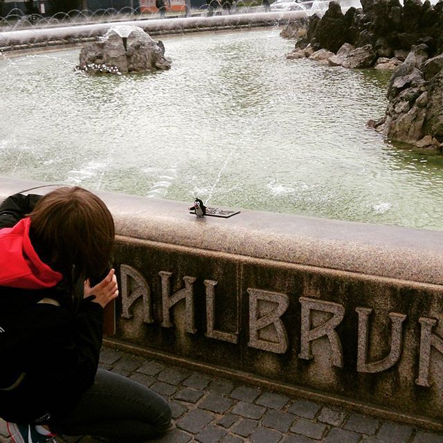 This is photo from Vienna. I noticed that my mummy took me a photo when I was taking a photo of Mr Mole :) So, here it is  #vienna#krtek#travel#mummy#mole