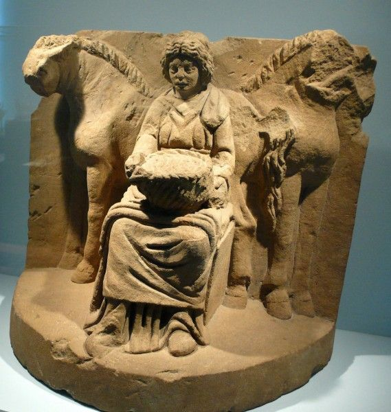 """Epona, Celtic goddess. Her name contains an allusion to the horse: in Celtic, """"epos"""" means """"horse"""" and the suffix """"-ona"""" affixed simply means """"on"""". Epona is the patron goddess of mares and foals."""