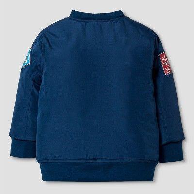 Hit Toddler Boys' Bomber Jacket and Long Sleeve Tee Set - Navy (Blue) 4T