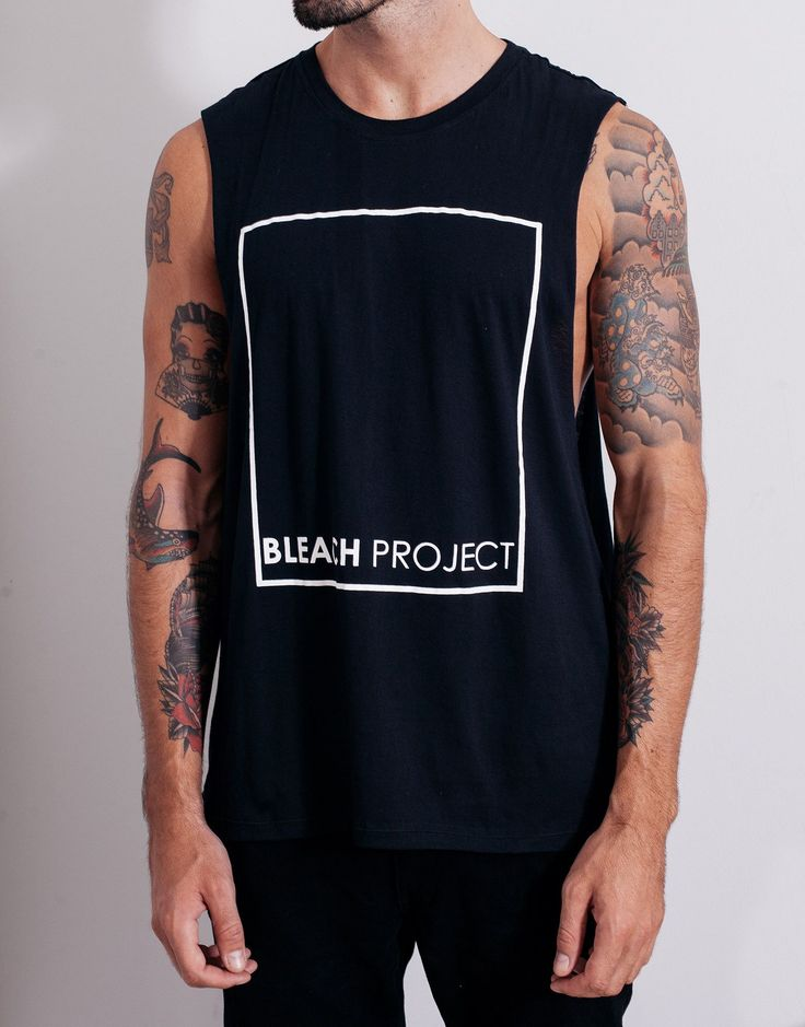 Bleach BP Square Muscle Tee Black