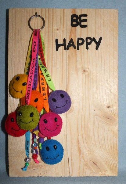 BE HAPPY sleutelhangers maken van vilt
