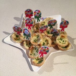 Christmas - Cheese and Chive Mini Tartlets - Perfect for a lunch box or finger food. Easy for children to help make too. :-)
