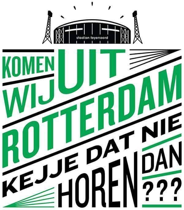 Komen wij uit Rotterdam! Ken je dat nie horen dan!!!