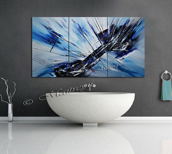 1000 id es sur le th me peintures acryliques abstraites - Peinture effet profondeur ...