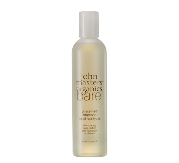Acne Safe Hair Care - John Masters Organics Bare unscented organic shampoo for all hair types