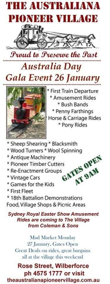 Adults $5    School-aged Children $3   Family $15 (2 adults and 2 school aged children)    Children under 5 years - Free  SULKY RIDES $3.00 AMUSEMENT RIDES $5.00 EACH OR  4 RIDES FOR $15.00 OR 6 RIDES FOR $20.00 OR  12 RIDES FOR $35.00  BUY A FAMILY PASS ON AUSTRALIA DAY AND RECEIVE A FREE ADULT ENTRY TICKET TO MAD MARKET MONDAY #AustraliaDay #AusDay #Ausday2014 #History #Australia #Sulky #rides #games #picnic #family #fun