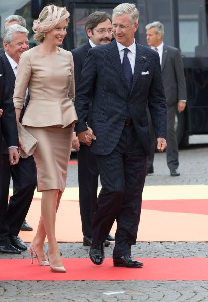 Belgian King Philippe and Queen Mathilde attend celebrations marking the 200th anniversary of the kingdom of The Netherlands on 30.08.2014 in Maastricht, The Netherlands.