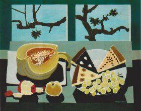 Arnost Paderlik (1919-1999) Autumn Still Life with Watermelon (Podzimní zátiší s melounem)