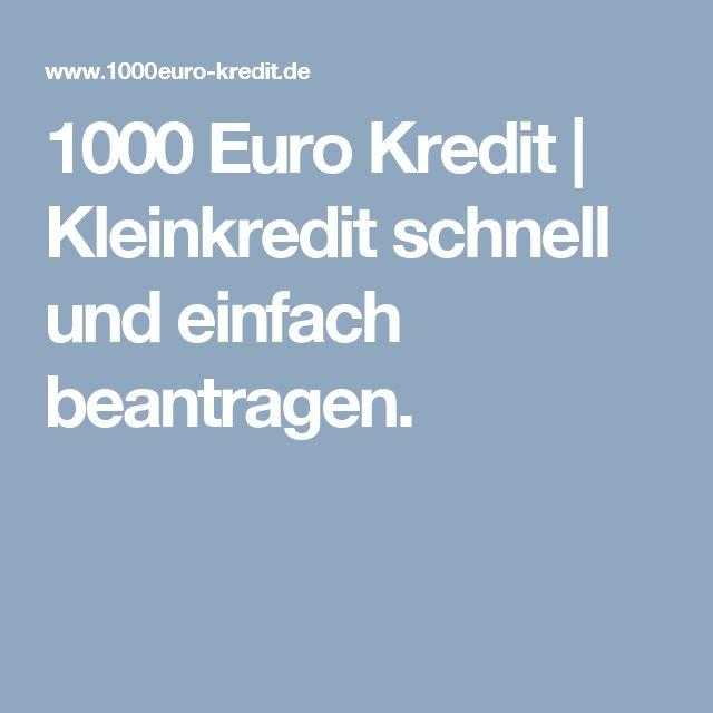 Euro Kredit Kleinkredit Schnell Und Einfach Beantragen