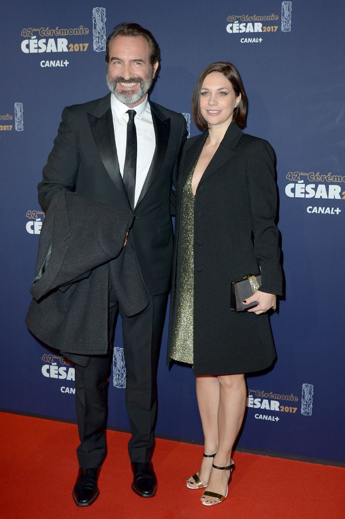 Nathalie Péchalat et Jean Dujardin aux César 2017