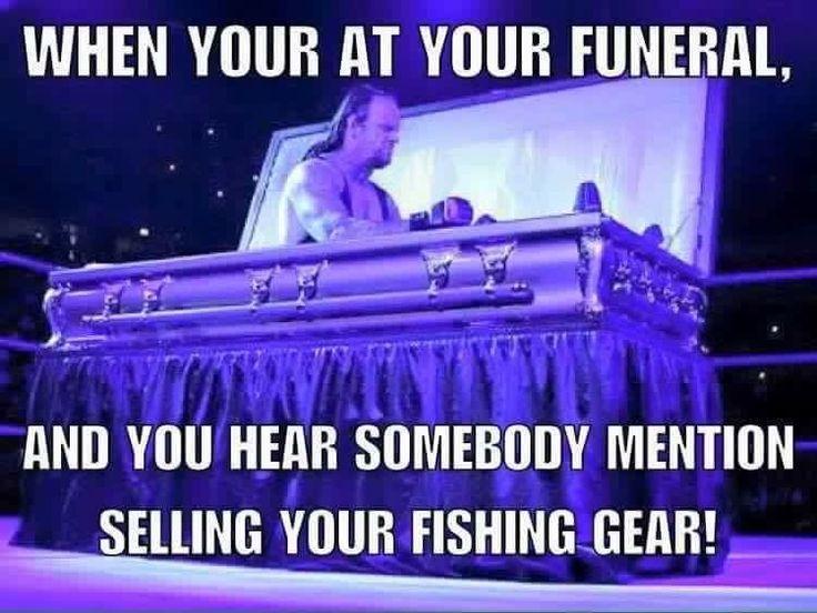 Undertaker didn't strike me as a fisherman... Fishing Funeral www.SaltStrong.com