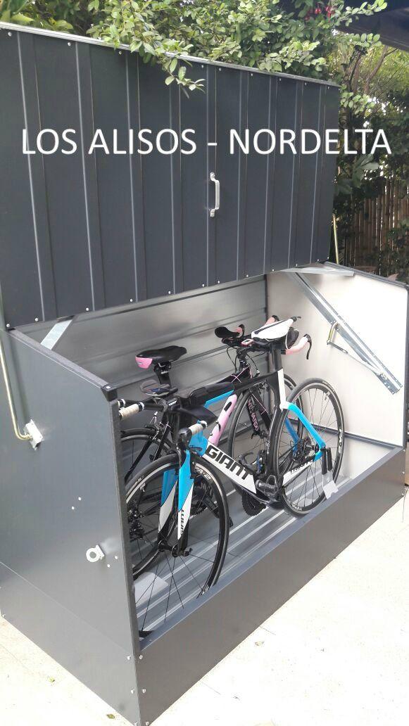 $14.500   Guarda Bicicletas Trimetals de Acero recubierto en PVC.  Caso de Exito instalado con Piso de Metal Opcional en Country Los Alisos - Nordelta  Producto Nuevo Los precios son mas IVA.