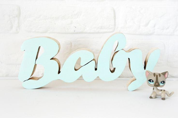 Drewniana ozdoba- napis BABY