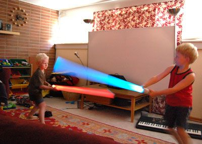 2-minute lightsabers....but you gotta have the right materials....