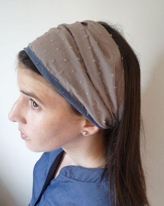 Moca gray head cover bandana by TAMARLANDAU= Perfect for the upcoming summer:))  $23.00 #modest chic #modeset head cover #bandana