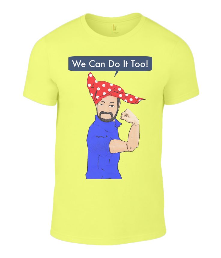 We Can Do It Too Men's T-Shirt #humour #wartimeposter #iconic #mencan