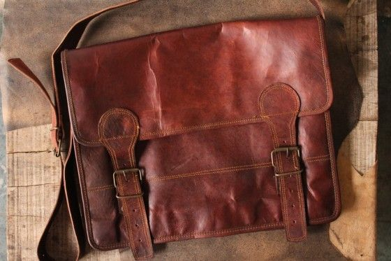 Shopo.in : Buy Leather Office Bag, Laptop Bag 15inch online at best price in Udaipur, India