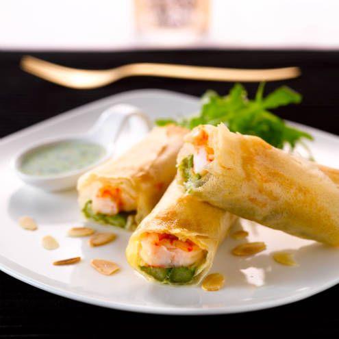 Krokantje van asperges en scampi's (en nog vele recepten)