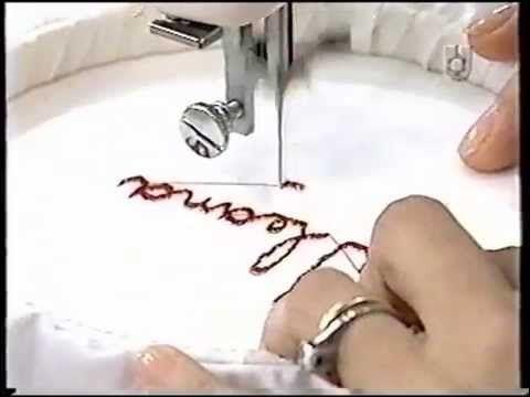 ▶ Puntos y Puntadas 77. Bordado de letras a máquina. Graciela Costanza. - YouTube