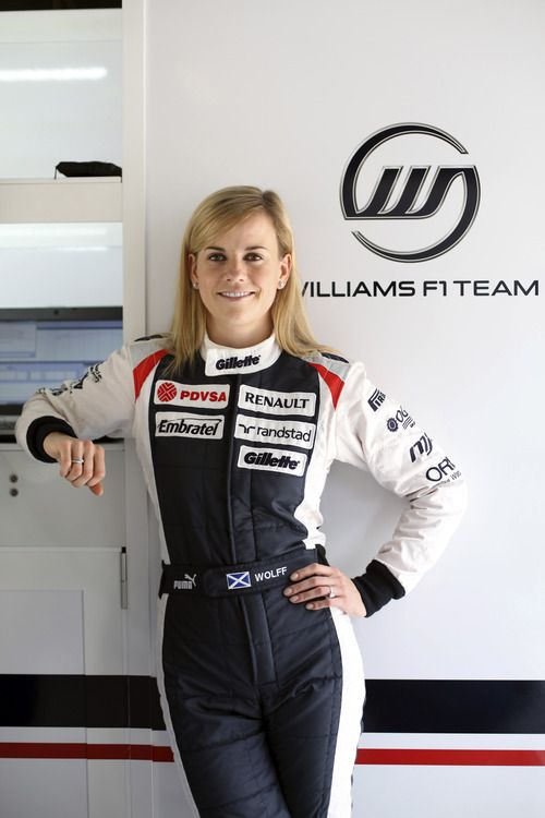 Susie Wolff - an inspirational woman in a man's world. A great role model! Development Driver for Williams.